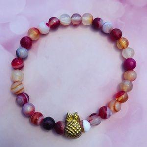 Gold Pineapple Charm Bracelet